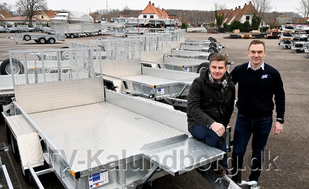 Indehaver Jacob Glad sammen med markedschef Martin Vang Kristiansen. Foto: Jens Nielsen