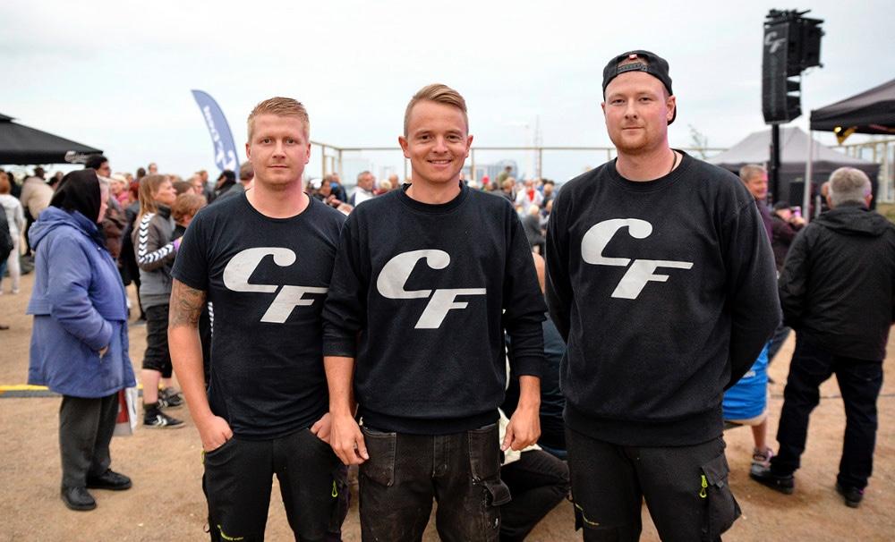 Holdet bag CF Event er Simon Rugbjerg Andersen, Anders Kjærulff, og Jeppe Lodall. Arkivfoto: Jens Nielsen.