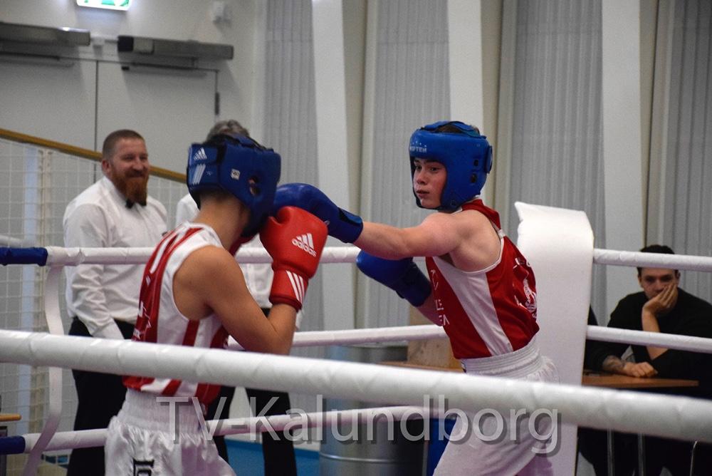 Bertram Olsen fra Kalundborg Bokseklub boksede i dag Diplomkamptil Breddestævne i Spiralen i Kalundborg. Foto: Gitte Korsgaard.