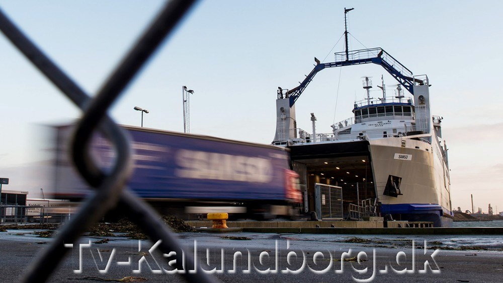 Samsøfærgen M/F Samsø, som sejler fra Kalundborg til Ballen på Samsø. Foto: Jokum Tord Larsen