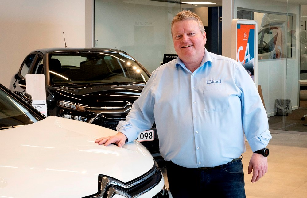Mikael Pødenphandt Mogensen er nyansat hos Bilcentret Peer Glad som Citroën ansvarlig. Foto: Jens Nielsen