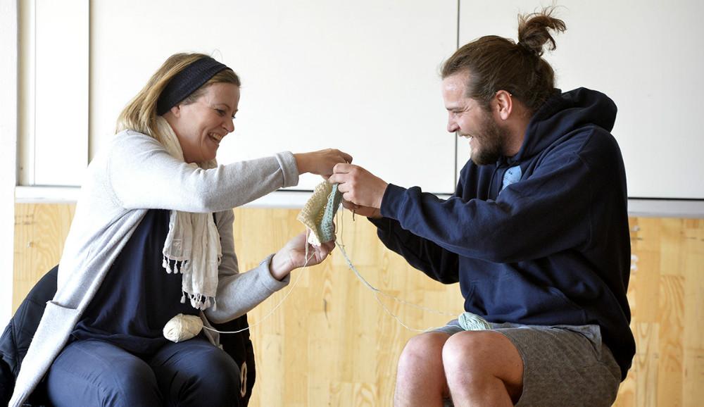 Dagen sluttede med et teaterstykke med udgangspunkt i dilemmaer relateret til væsentlige pointer fra de dagens workshops.. Foto: Jens Nielsen