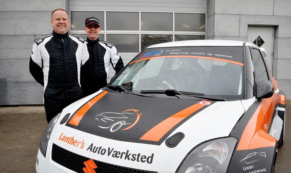Claus Lanther og Mogens Gotlob er helt klar til 2019 sæsonen i deresSuzuki Swift Maxi 16. Foto: Jens Nielsen