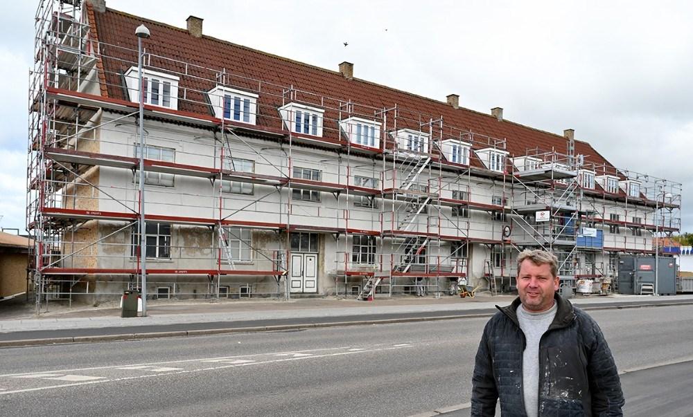 Thomas Giese fra TG Byg står den den store renovering. Foto: Jens Nielsen