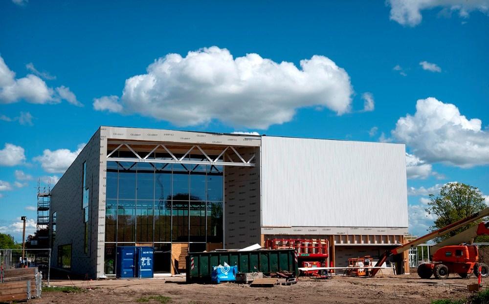 Den nye hal i Høng bliver centrum for den store begivenhed. Foto: Jens Nielsen