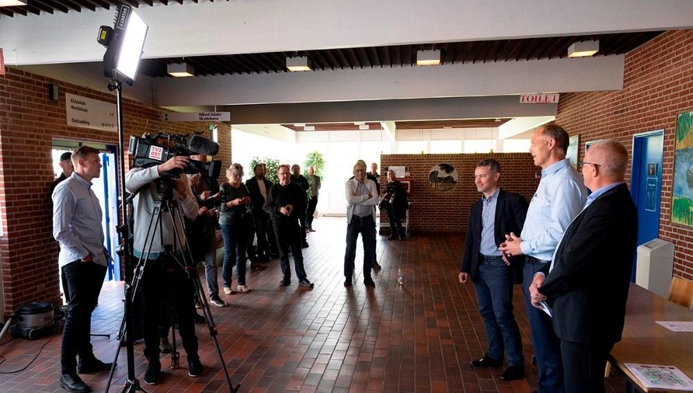 Aftalen blev underskrevet på et pressemøde onsdag eftermiddag. Foto: Jens Nielsen