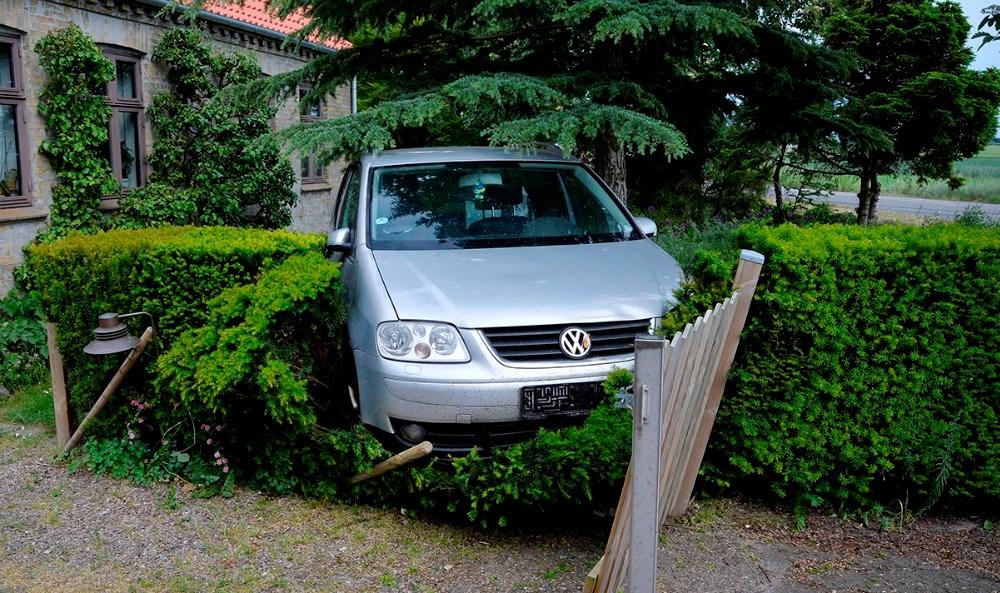 Et af de tidligere uheld på Kærbyvej. Arkivfoto: Jens Nielsen