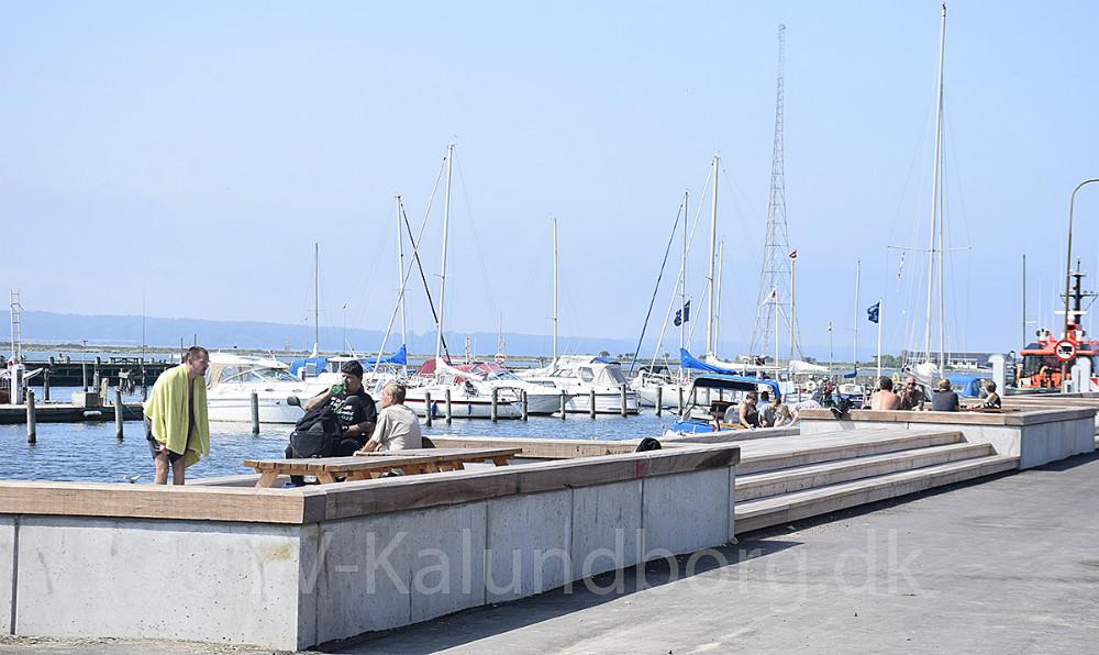 Kalundborg Havnepark en solskinsdag. Foto: Gitte Korsgaard.