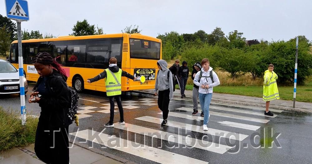 Politiet gav også gode råd til skolepatruljen. Foto: Jens Nielsen