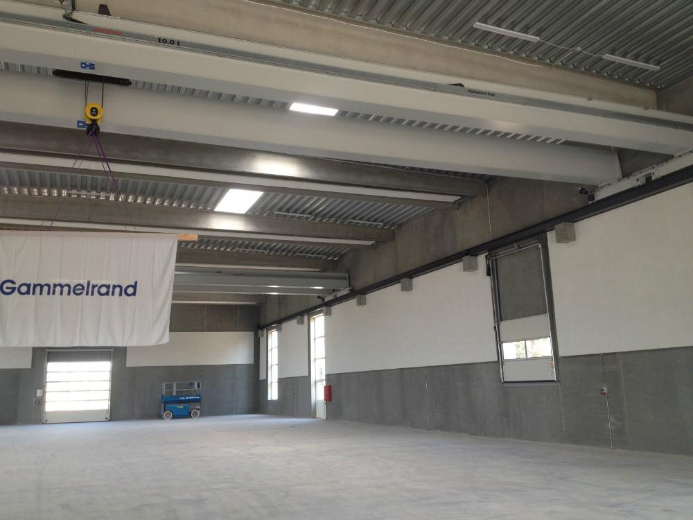 Gammelrand Betons nye produktionshal.