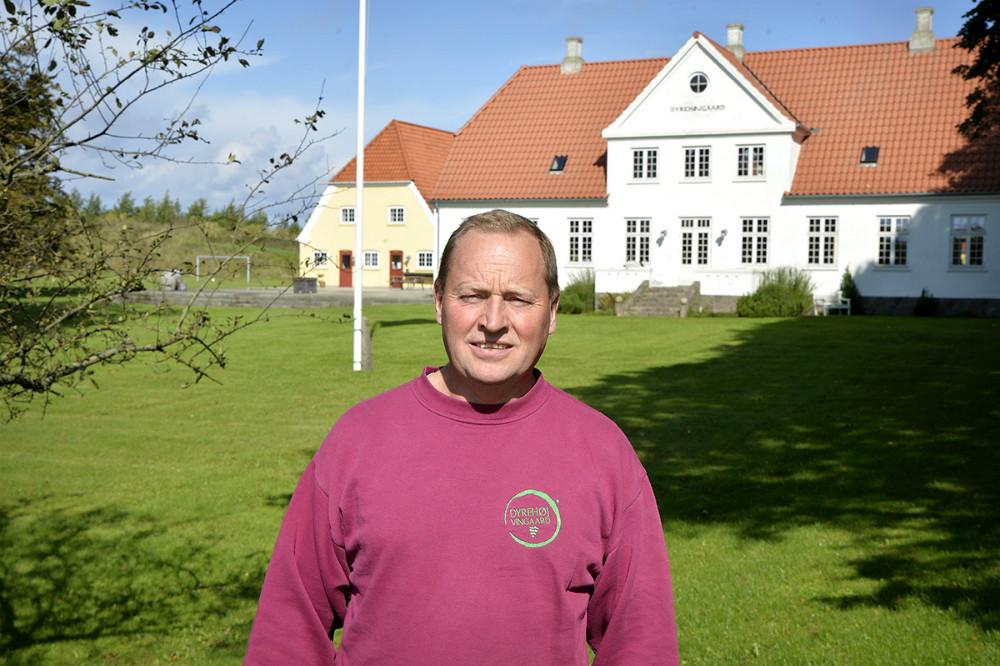 Tom Christensen, her foran Dyrehøjgaard. Foto: Jens Nielsen