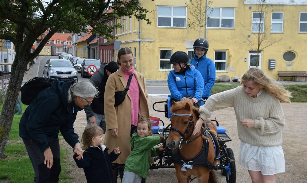 PonyenHannibal gav mange et smil på læben i Kalundborg Havnepark, da der blev samlet ind til Scleroseforeningen. Foto.Gitte Korsgaard