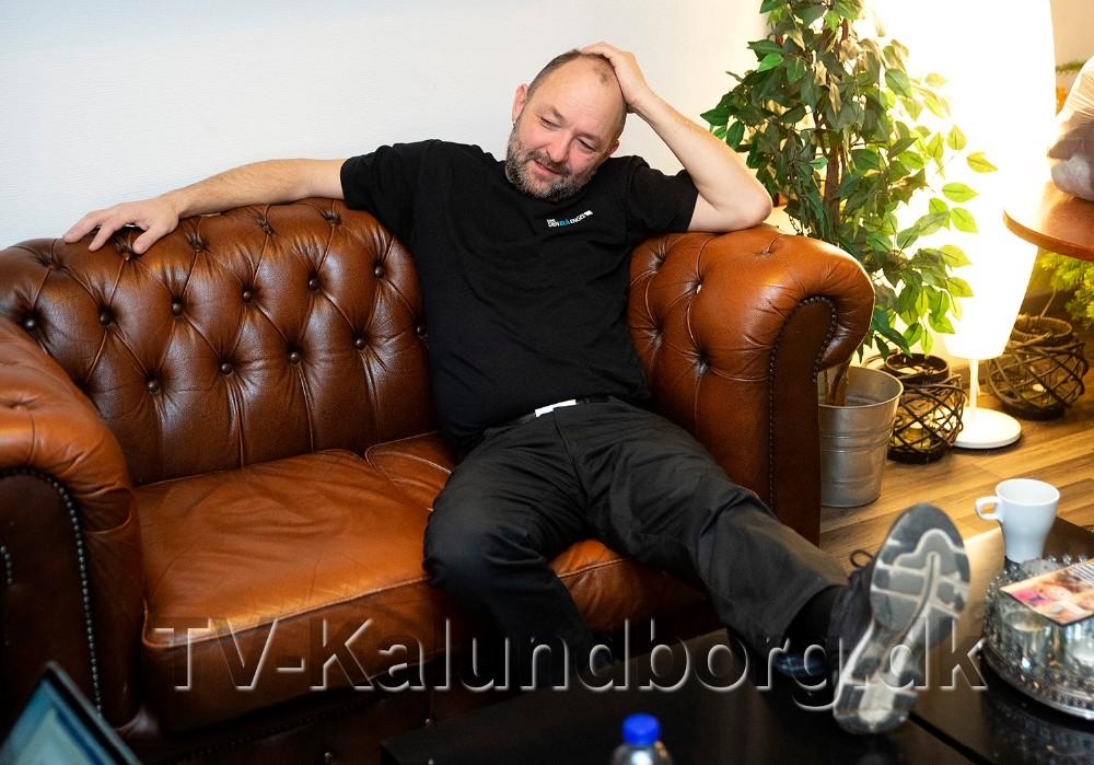Brian Sønder Andersen er tilbage i Kino Den Blå Engel et par timer hver formiddag. Foto: Jens Nielsen
