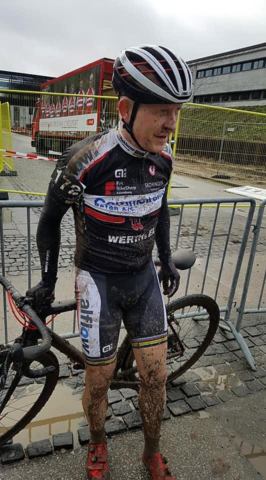 Henrik Djernis, Kalundborg Cykle Club vandt sølv ved DM i cykelcross. Privatfoto