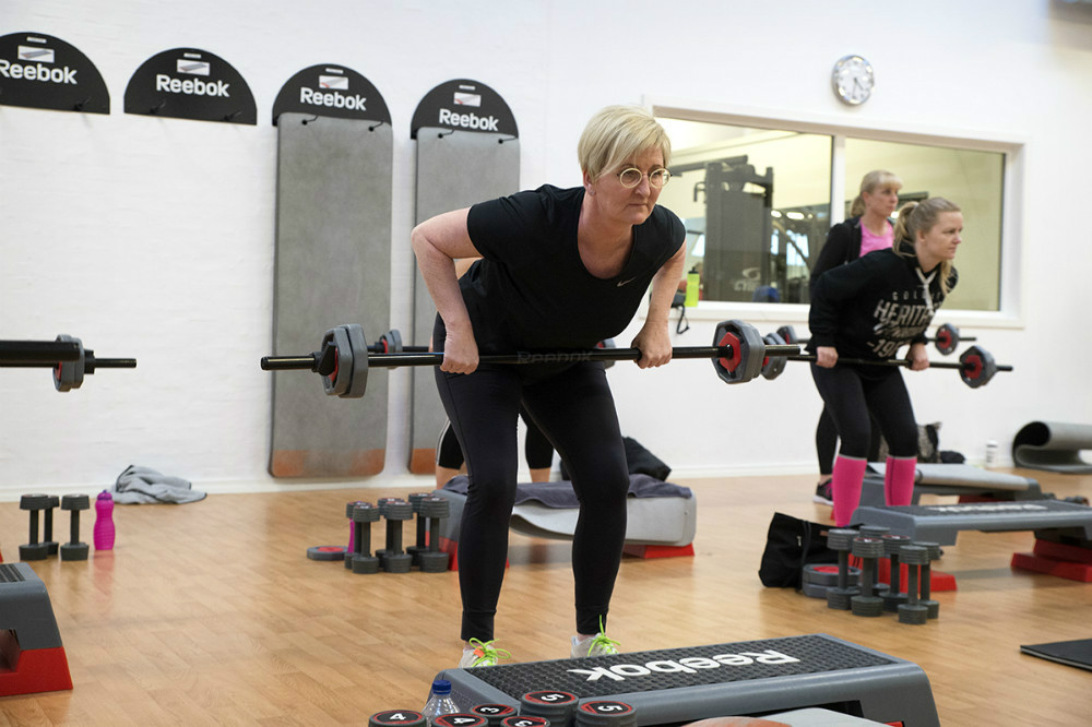 Tina Joensen i træningslokalet hos Fitness Fokus. Foto: Jens Nielsen