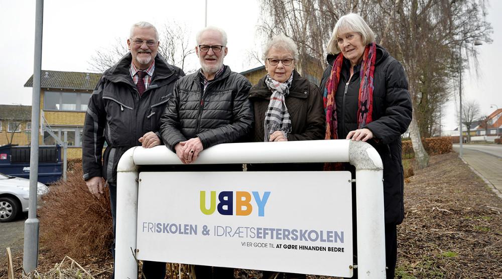 Fra venstre, Anker Nielsen, Finn Djernis, Gurli Madsen og Britha Djernis. Foto: Jens Nielsen