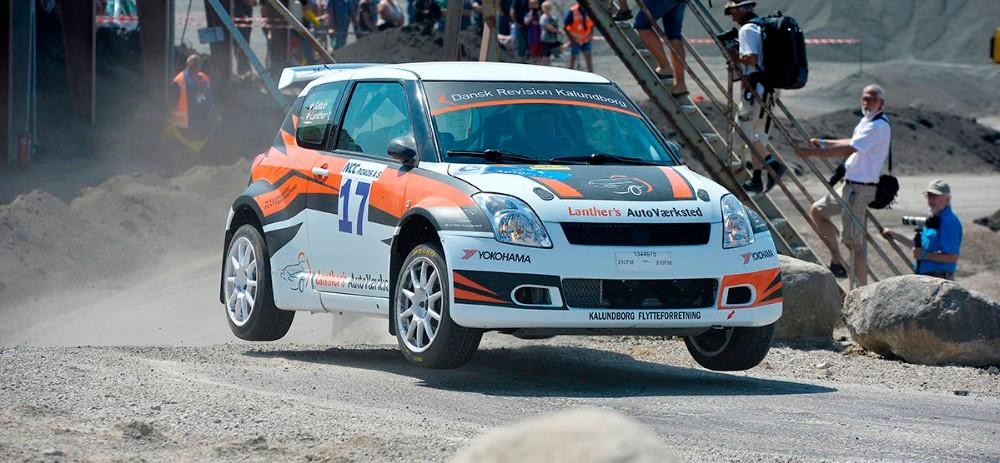 Claus Lanther i Suzuki Swift 1600 er med på startlisten igen i år. Arkivfoto: Jens Nielsen