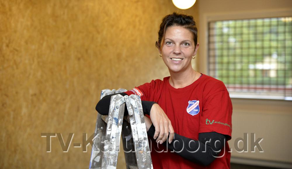 Trine Grue Werth,foreningskoordinator i TGUi det nye eSports rum, som næsten er færdigt. Foto: Jens Nielsen
