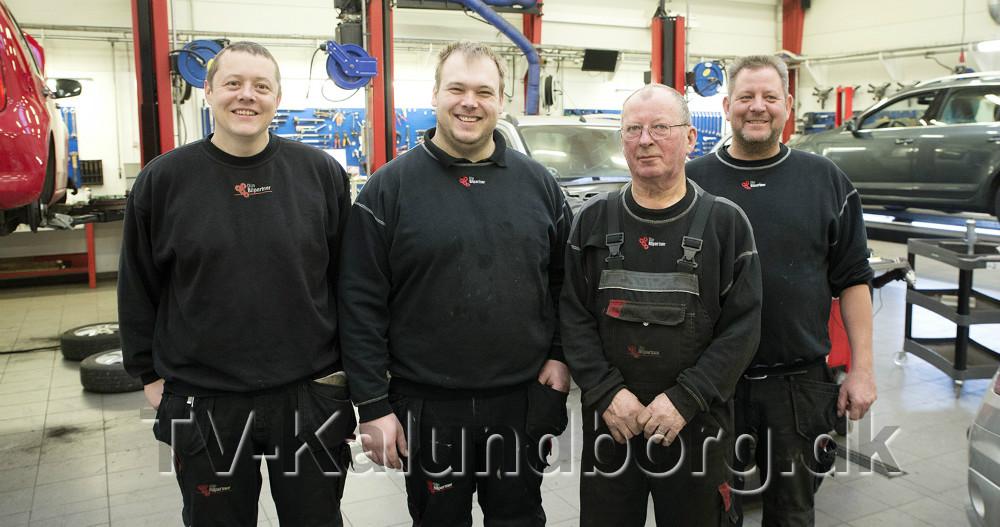 Fra venstre, Max Bubbe, Anders Åkerman, Karsten Sørensen og Lars Larsen. Foto: Jens Nielsen