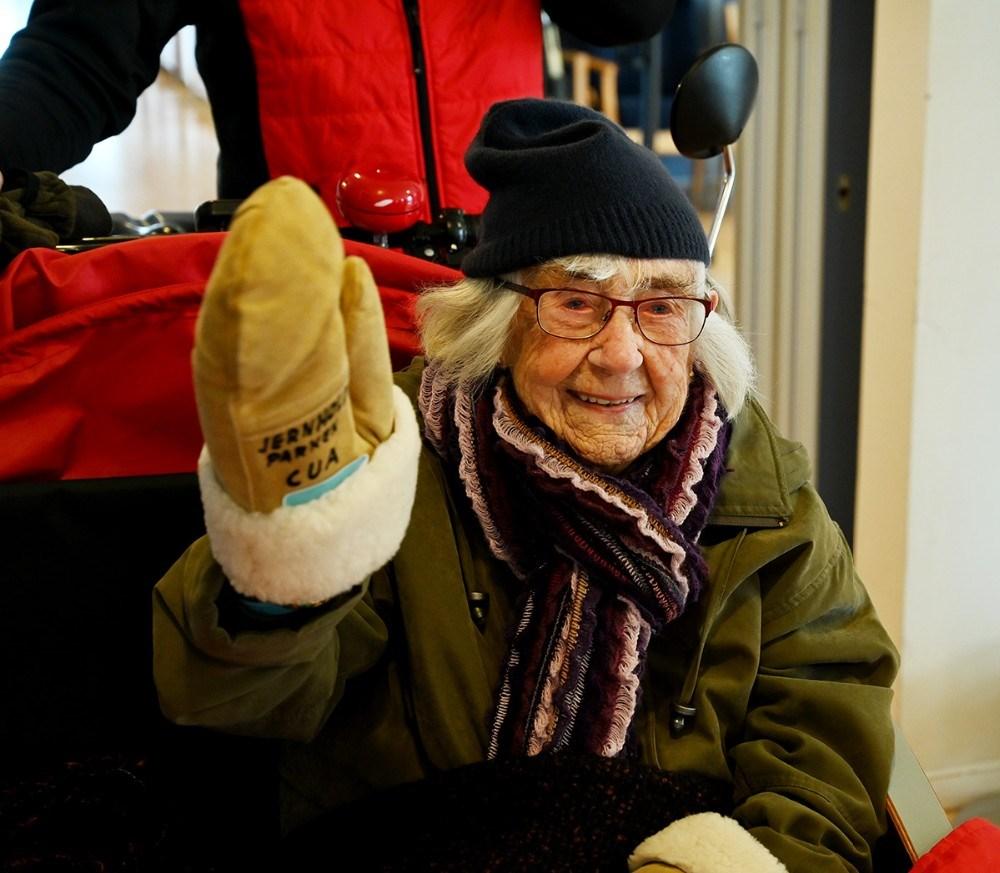 Sonja Udsen, der runder 103 år i næste måned. Foto: jens Nielsen