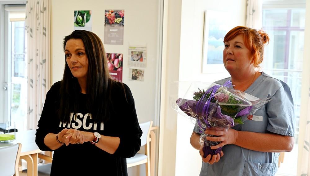 Teamleder Birgitte Thisted og Tina Egekjær. Foto: Jens Nielsen