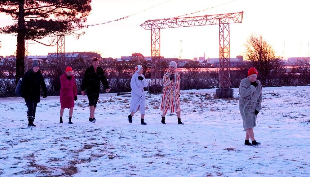 Klar til det kolde gys tidlig mandag morgen. Foto: Jens Nielsen