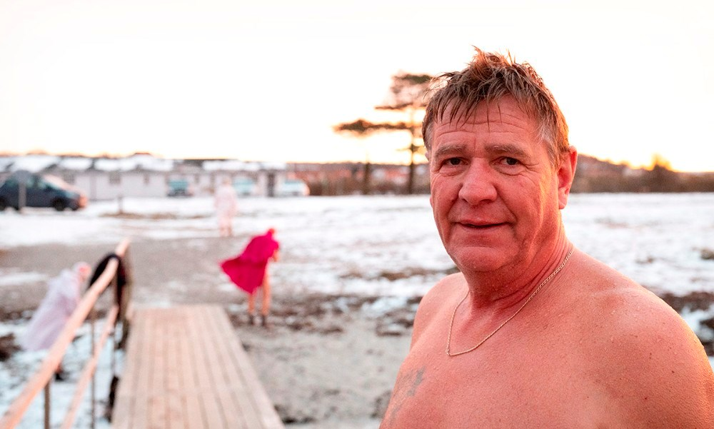 Formand for vinterbadeklubben Isfuglene, Ole Greensten Vestbøll. Foto: Jens Nielsen