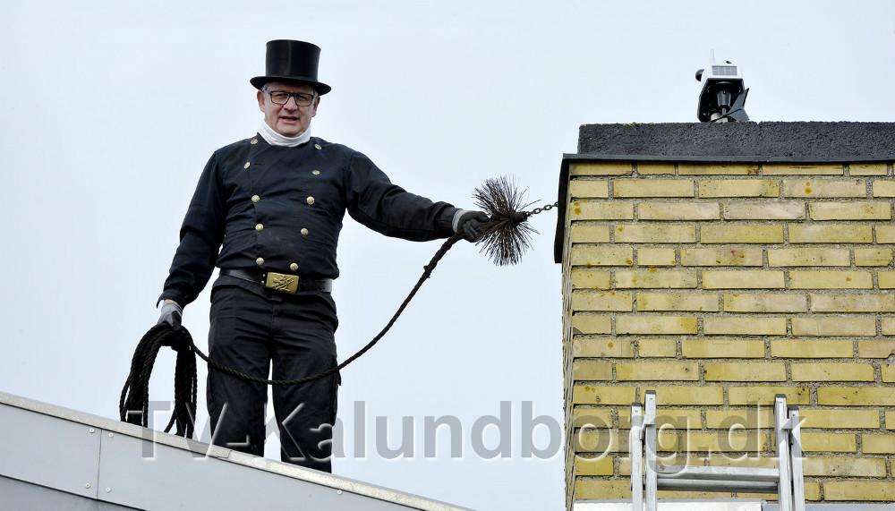 Skorstensfejermester Jens Jørgen Kjærulff. Foto: Jens Nielsen