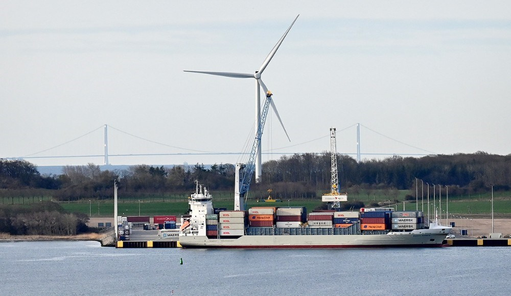 Containerskibet Bianca Rambow anløb Ny Vesthavn torsdag kl. 06.30. Foto: Jens Nielsen