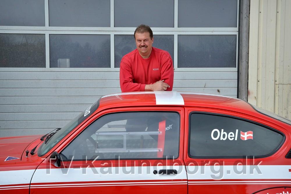 Peter Obel klar til at køre classic race i sin Opel Kadett GTE. Foto: Jens Nielsen