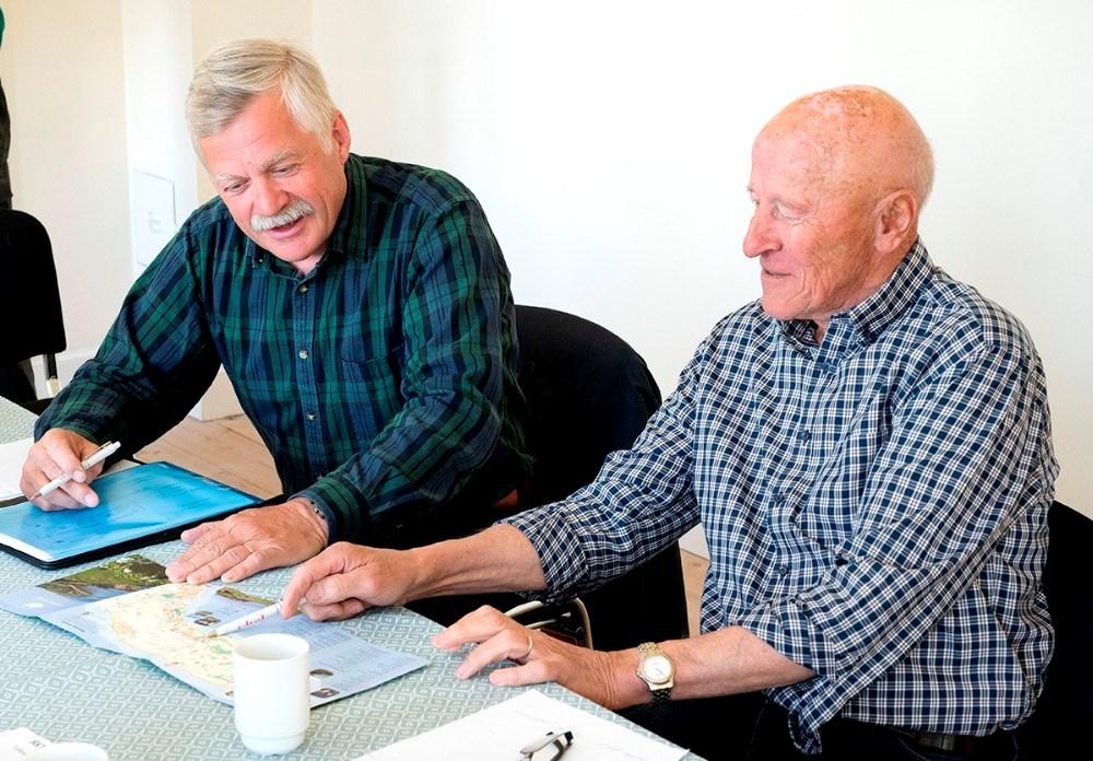 Carl F. Stub Trock og Mogens Anholm. Foto: Jens Nielsen