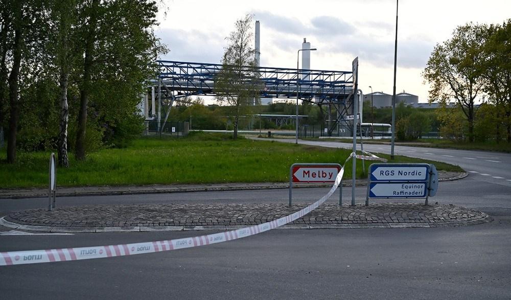 Veje i området omkring biogasanlægget blev spærret af. Foto: Jens Nielsen
