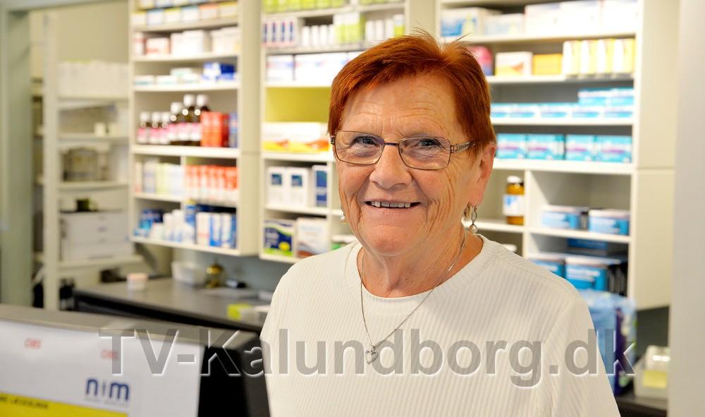 50-års jubilar på Kalundborg Svane Apotek, Ruth Sørensen. Foto: Jens Nielsen
