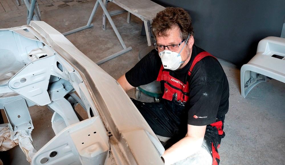 Kenneth Hansen er nyansat hos KE Laksupport. Foto: Jens Nielsen