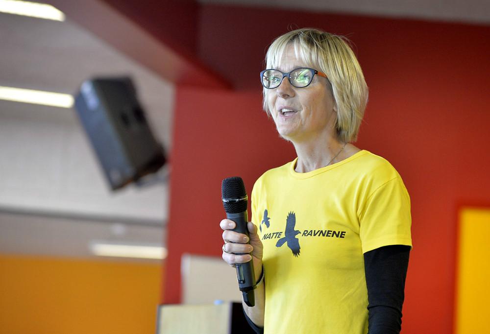 Formand for Natteravnene i Gørlev, Laila Hansen, bød velkommen. Foto Jens Nielsen