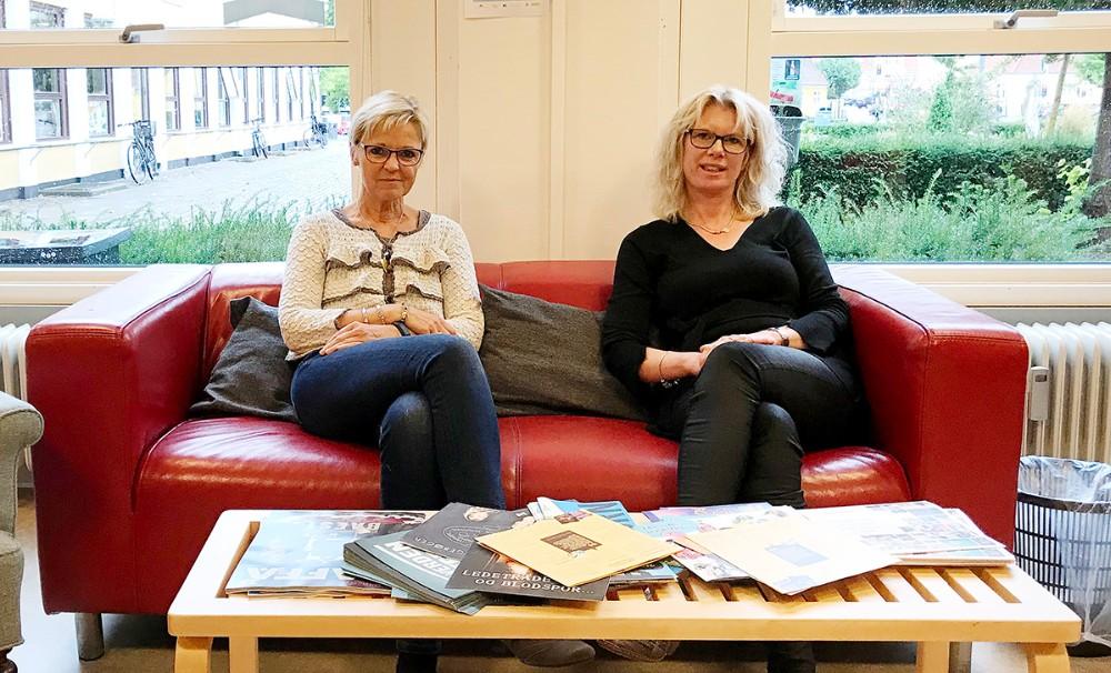 Biblioteksleder, Jette Mygind og faglig koordinator, Stine Veisegaard fra Kalundborg Biblioteker. Foto: Gitte Korsgaard.