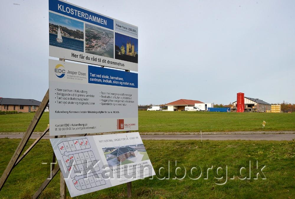 Der er godt gang i husbyggeriet i Kalundborg Kommune, her på Klosterdammen i Kalundborg. Foto: Jens Nielsen