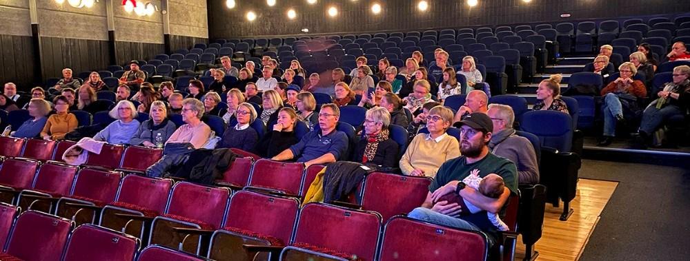 Torsdag aften var der fokus på livet med en kronisk sygdom i Kino Den Blå Engel.Foto: Gitte Korsgaard.