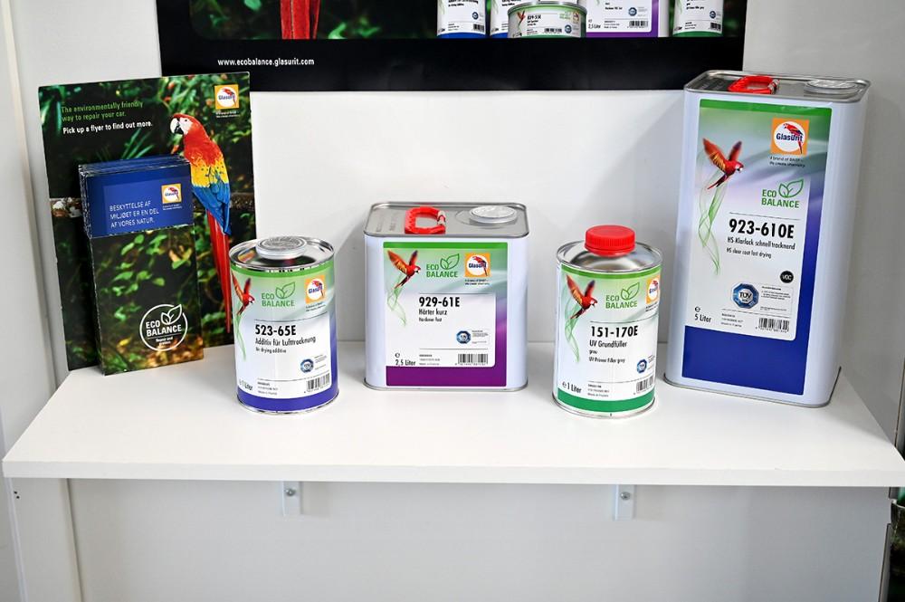 Et udsnit af de nye produkter som er fremstillet bæredygtigt. Foto: Jens Nielsen