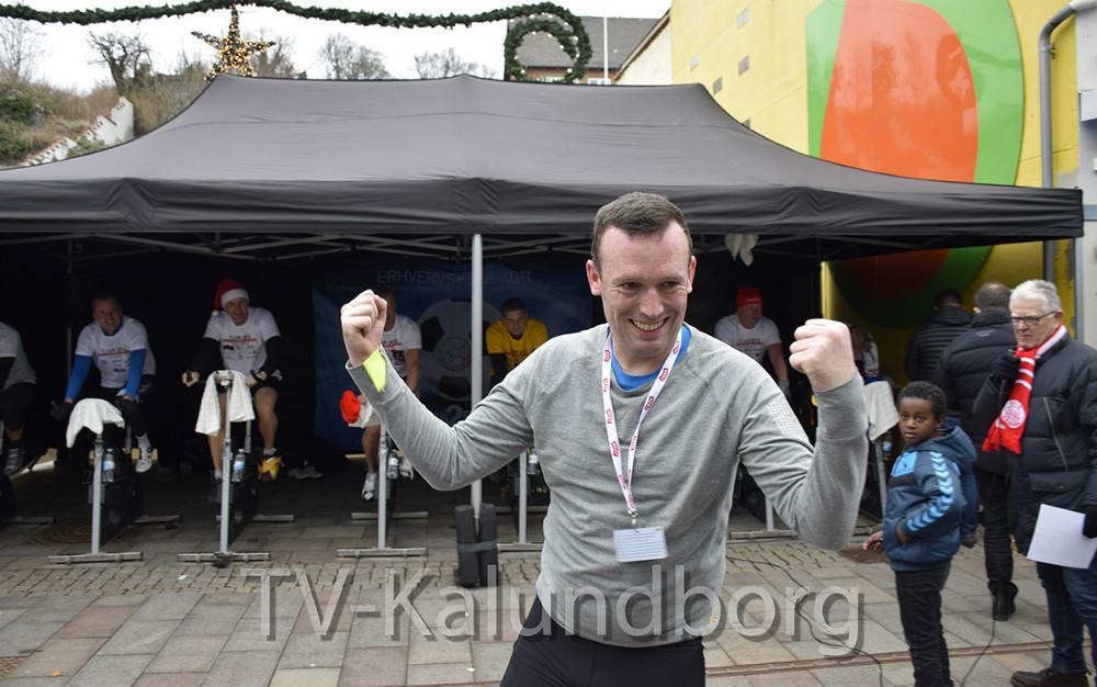 Michael Skovgaard Rasmussen måtte give op efter godt 20 min. på cyklen. Foto: Gitte Korsgaard.