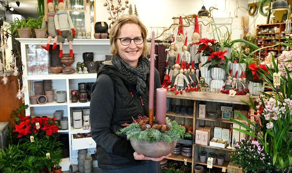 Charlotte Hansen, indehaver af Lynghuset i Gørlev, har travlt op til jul. Foto: Jens Nielsen