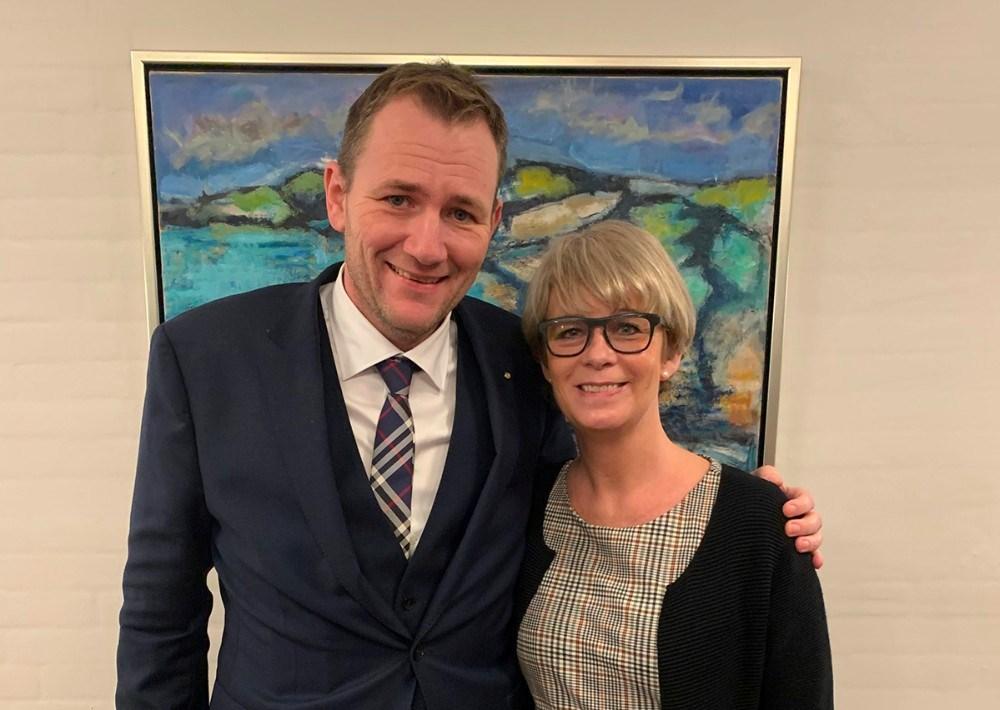 Folketingsmedlem Niles Flemming Hansen og Kommunalbestyrelsesmedlem Anita Winther. Privatfoto