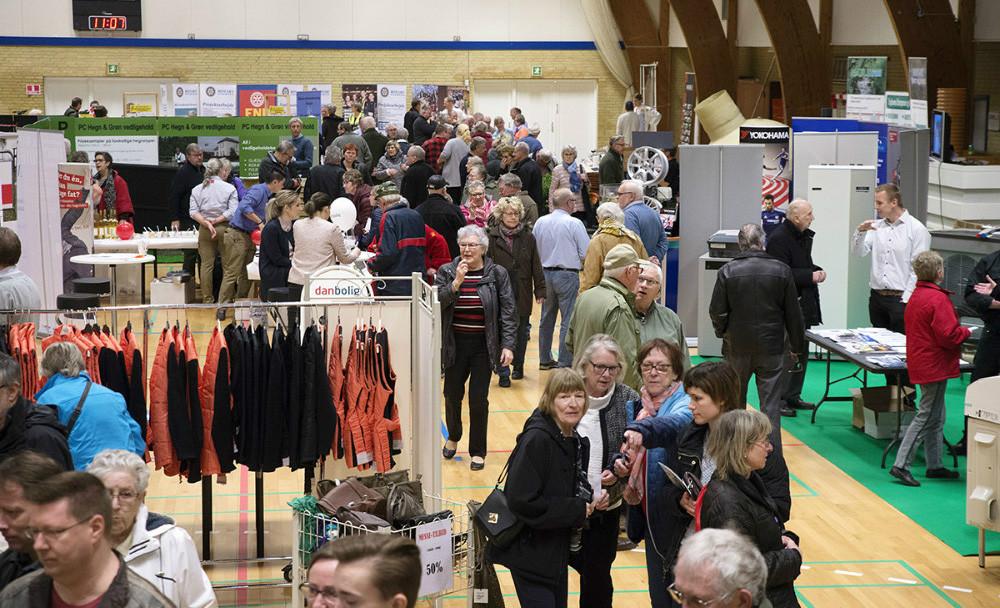 Der ventes mange til messe i Gørlevhallen på søndag. Arkivfoto: Jens Nielsen