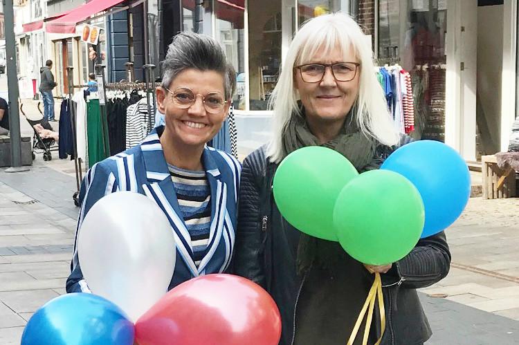 Annette Pihlman, Butik A og Anne Jørgensen, Skoringen, er med i den store ballonfestival i Kalundborg i næste uge. Privatfoto