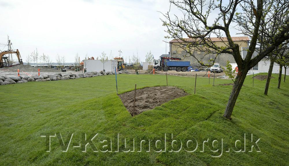 Der bliver Sankt Hans bål i havneparken i år. Foto Jens Nielsen