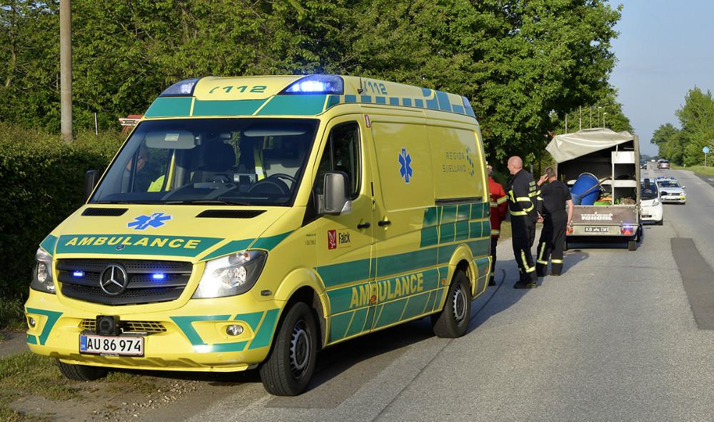 Færdselsuheld på Holbækvej i Kalundborg, onsdag aften. Foto: Jens Nielsen
