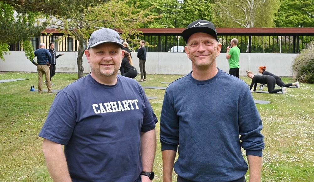 Søren Lund Larsen og Thomas Saaby Hansen, indehavere af Go Form i Kalundborg. Foto: Jens Nielsen