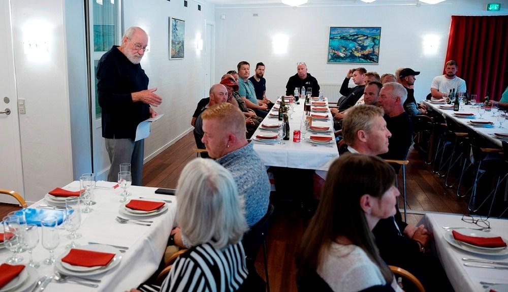 Tirsdag var der inviteret til rejsegilde på byggeriet. Foto: Jens Nielsen