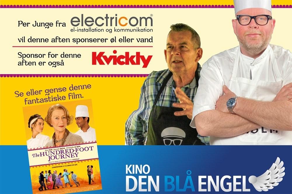 Den 27. juli skyder Kino Den Blå Engel byfesteni gang med Indisk Aften med Claus Holm og SørenGericke, indiske hotdog og en god film.