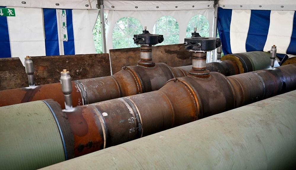 Et sæt ventiler er blevet udskiftet på den store hovedledning. Foto: Jens Nielsen